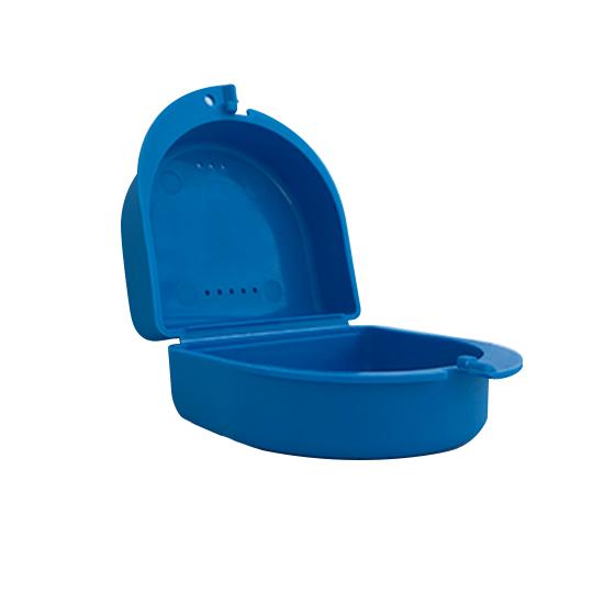 licht blauw bakje voor uw beugel of kunstgebit