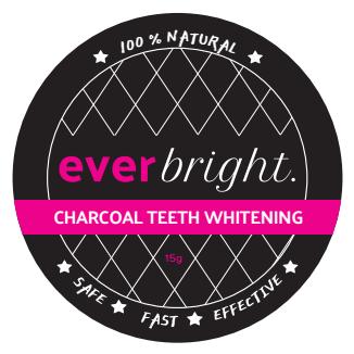 Whitening zwart poeder wittere tanden
