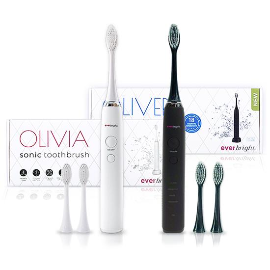 Everbright OLIVIA en OLIVER Sonic toothbrush - DUOSET - Prijsvergelijk