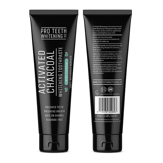 pro teeth activated charcoal whitening - wittere tanden tandpasta