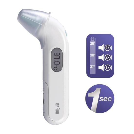 Braun koortsthermometer via het oor