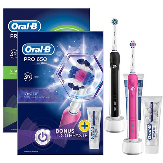 Oral-B PRO 650 Black and Beauty DUOPACK - Prijsvergelijk