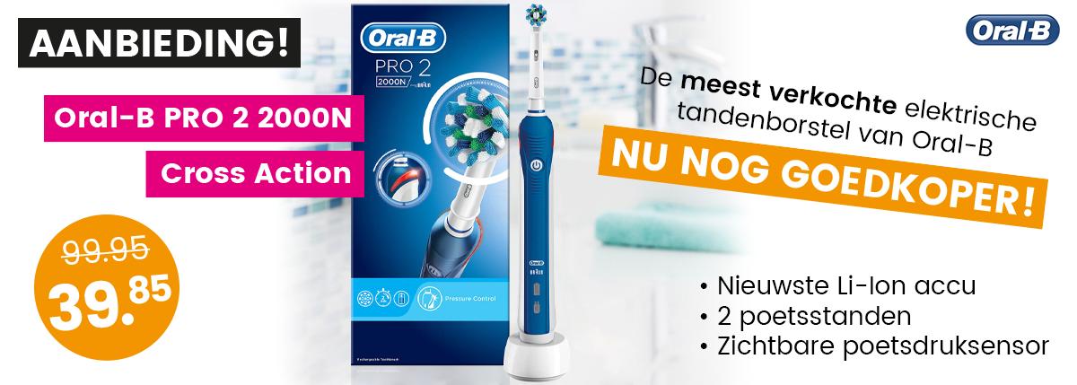 Aanbieding Oral-B PRO 2 2000