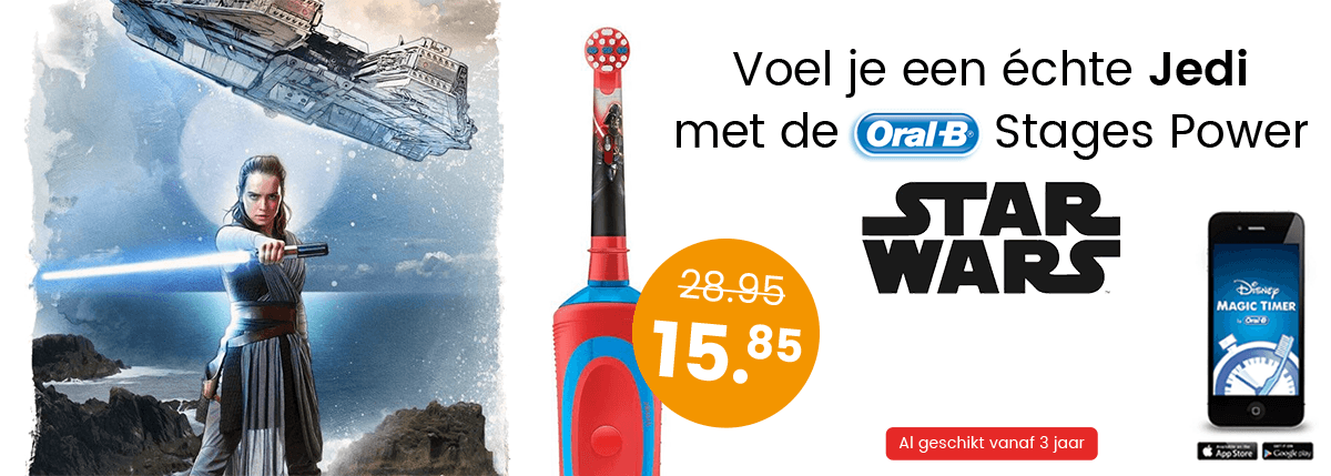 Voel je een Jedi met de Oral-B Stages Power Star Wars