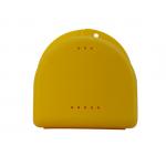 Bakje voor beugels, protheses, bitjes, kunstgebit in de kleur geel